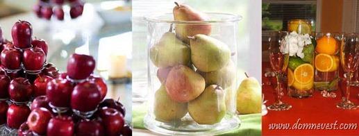 украшение свадьбы фруктами