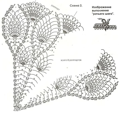 Вязаное свадебное платье и накидка. со схемами и описанием