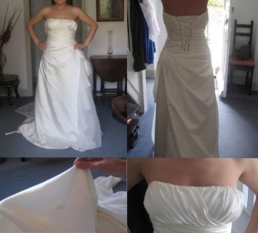 Никогда не думай, что то платье, которое ты получишь, будет точной копией того, которое ты увидела в каталоге! Например, невеста из Чехии заказала свадебное