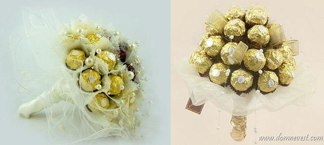 Свадебные букеты из конфет Ferrero Rocher