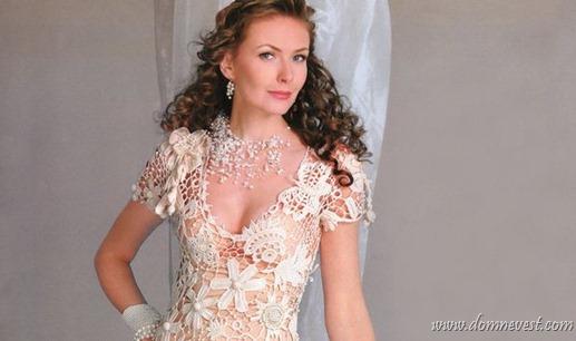 вязаное свадебное платье винтаж