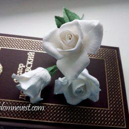 Розы из полимерной глины для свадебного букета