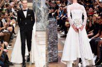 Шокирующий костюм жениха от Тома Брауна 2018