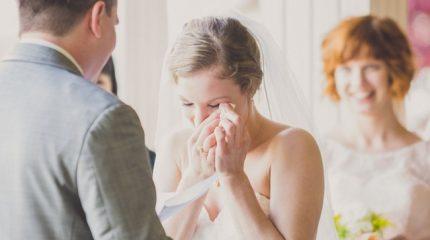 Как не заплакать на свадьбе?