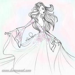Свадебные платья 2018. Первые эскизы