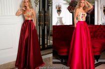 Длинные платья для подружек невесты