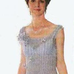 Вязаное свадебное платье А-силуэта