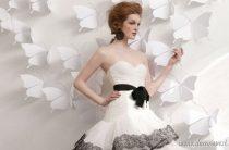 Черно-белые свадебные платья 2013