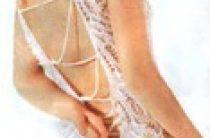 Вязаное сексуальное свадебное платье