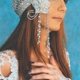 Свадебная шапочка из бисера