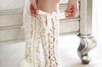 Свадебные кружевные сапожки