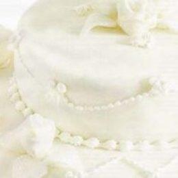 Свадебный торт с марципаном