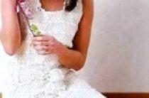 Вязаное кружевное свадебное платье