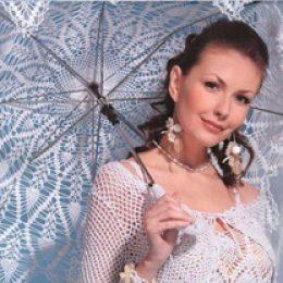Вязаное свадебное платье и болеро