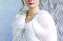Вязаное подвенечное платье