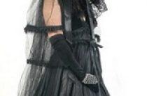 Готическое свадебное платье
