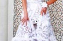 Вязаное свадебное платье-трансформер