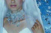 Свадебное колье из бисера с цветами