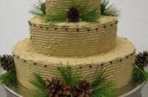 Свадебные торты с шишками. Идеи и фото