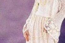 Кружевное вязаное пальто для невесты