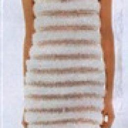 Вязаное свадебное платье с меховой опушкой