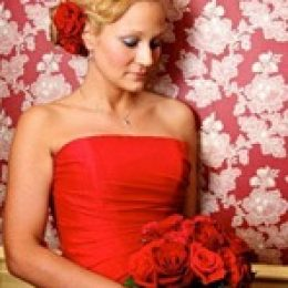 Свадебный букет для красного свадебного платья