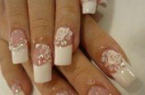 Свадебный дизайн накладных ногтей