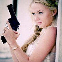 Свадебная фотосессия в гангстерском стиле