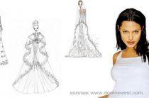 Свадебное платье для Анжелины Джоли. Эскизы дизайнеров