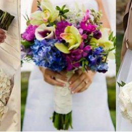 Простой свадебный букет своими руками