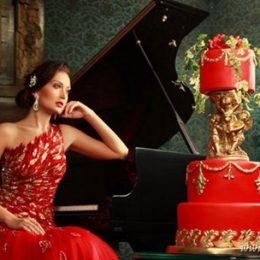 Свадебные торты в стиле свадебного платья от Sweet Boutique