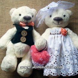 Свадебные медвежата своими руками