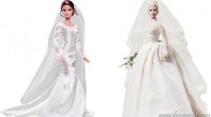Куклы Барби в свадебных образах знаменитостей