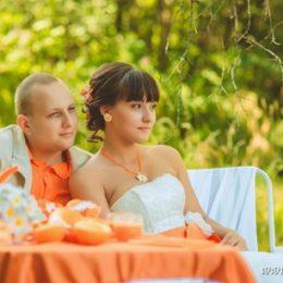 Оранжево-ромашковая свадьба Дианы и Романа