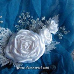 Свадебная заколка своими руками