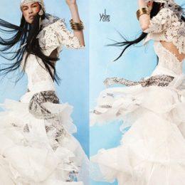 Вязаная свадебная мода 2012
