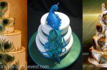 Перо павлина в оформлении свадьбы