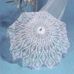 Вязаный свадебный зонтик