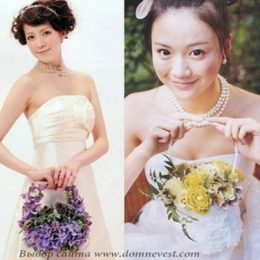 Цветы в наряде невесты