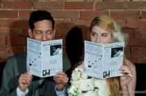 Свадебные приглашения в виде газеты