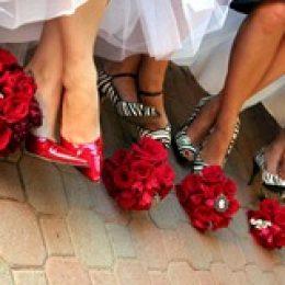 Свадебная обувь. Белая или цветная?