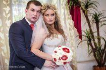 Бело-красная свадьба Оксаны и Андрея