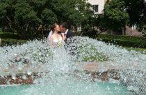 Идеи для свадебной фотосессии у фонтана