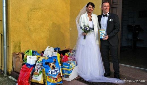 подарки вместо цветов на свадьбу