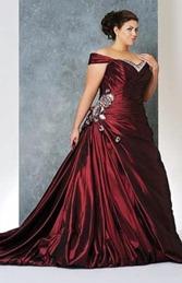 бордовое свадебное платье для полных