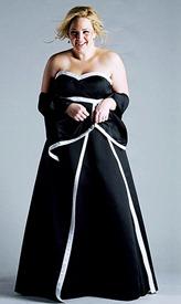 черное свадебное платье для полных