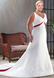 Цветные свадебные платья для полных невест | Дом невест