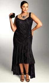 черное свадебное платье для полной невесты