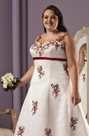 цветные свадебные платья для полных