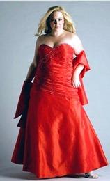 красное свадебное платье для полных